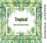 jungle background. tropical... | Shutterstock .eps vector #614429330