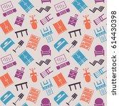 furniture seamless pattern....   Shutterstock . vector #614430398