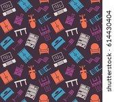 furniture seamless pattern....   Shutterstock . vector #614430404