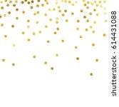 gold glitter background polka... | Shutterstock .eps vector #614431088