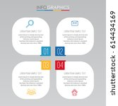 info graphic template for... | Shutterstock .eps vector #614434169
