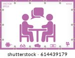 vector illustration people at a ... | Shutterstock .eps vector #614439179