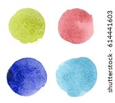 colorful watercolor stains  ... | Shutterstock .eps vector #614441603