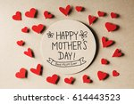 happy mothers day message with... | Shutterstock . vector #614443523