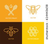 vector set of logo design... | Shutterstock .eps vector #614443658