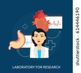 lab research conceptual design | Shutterstock .eps vector #614446190