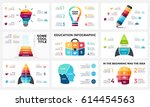 vector infographic  light bulb... | Shutterstock .eps vector #614454563