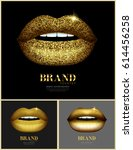 fashion banner with golden... | Shutterstock .eps vector #614456258