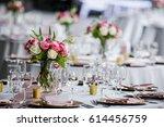 classy wedding setting.table...   Shutterstock . vector #614456759