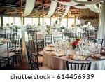 classy wedding setting.table...   Shutterstock . vector #614456939