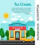 ice cream advertising banner... | Shutterstock .eps vector #614459936