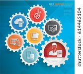 admin and development info... | Shutterstock .eps vector #614463104