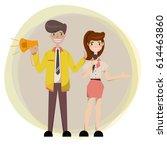 public relations announcing... | Shutterstock .eps vector #614463860