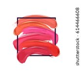 smears lipstick set  isolated... | Shutterstock .eps vector #614466608