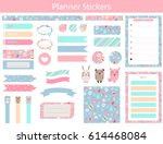 stickers for organized your... | Shutterstock .eps vector #614468084