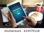 online reviews evaluation time... | Shutterstock . vector #614470118