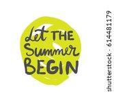 summer lettering design. | Shutterstock .eps vector #614481179