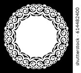 lace round paper doily  lacy... | Shutterstock .eps vector #614482400