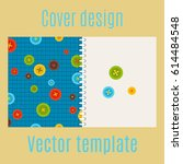 cover design for print with... | Shutterstock .eps vector #614484548