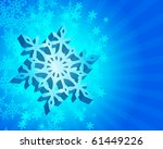 eps10 blue abstract christmas...   Shutterstock .eps vector #61449226