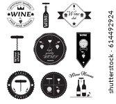 wine labels set | Shutterstock .eps vector #614492924