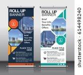 roll up banner design template...