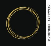 round gold frame.design element.... | Shutterstock .eps vector #614499560