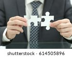 business solutions  success and ... | Shutterstock . vector #614505896
