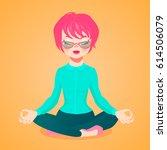 vector cartoon illustration of... | Shutterstock .eps vector #614506079