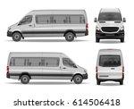realistic passenger van vector... | Shutterstock .eps vector #614506418