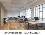 side view of an office with... | Shutterstock . vector #614506814