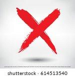 x.grunge letter x vector cross... | Shutterstock .eps vector #614513540