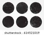 set of grunge post stamps... | Shutterstock .eps vector #614521019