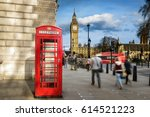 Red Phone Box With Big Ben ...