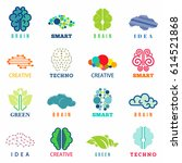 brain logo  signs and symbols... | Shutterstock .eps vector #614521868