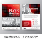 red brochure cover flyer poster ... | Shutterstock .eps vector #614522099