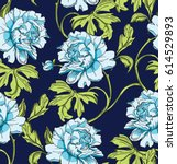 blue seamless pattern with... | Shutterstock .eps vector #614529893