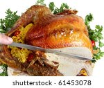 Carving A Roast Turkey For...