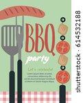 summer party invitation... | Shutterstock .eps vector #614532188