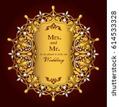wedding invitation or card with ... | Shutterstock .eps vector #614533328