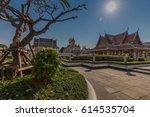 wat ratchanatdaram a beautiful... | Shutterstock . vector #614535704