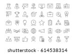set  line icons in flat design... | Shutterstock . vector #614538314