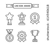 award linear icons set. vector... | Shutterstock .eps vector #614540618