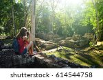 photographer takes pictures of... | Shutterstock . vector #614544758