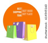 best shopping tour  advertising ... | Shutterstock .eps vector #614545160