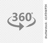 angle 360 degrees sign icon.... | Shutterstock .eps vector #614546954