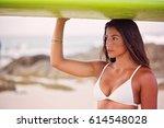 warm teak summer tones grace...   Shutterstock . vector #614548028