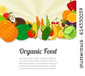 organic food card design. food... | Shutterstock .eps vector #614550059