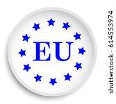 european union icon. european... | Shutterstock . vector #614553974