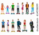 active peoples fun with... | Shutterstock .eps vector #614558099